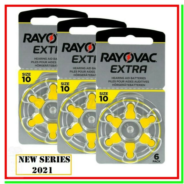 batterie per apparecchi acustici 10 rayovac extra 18 pile per protesi