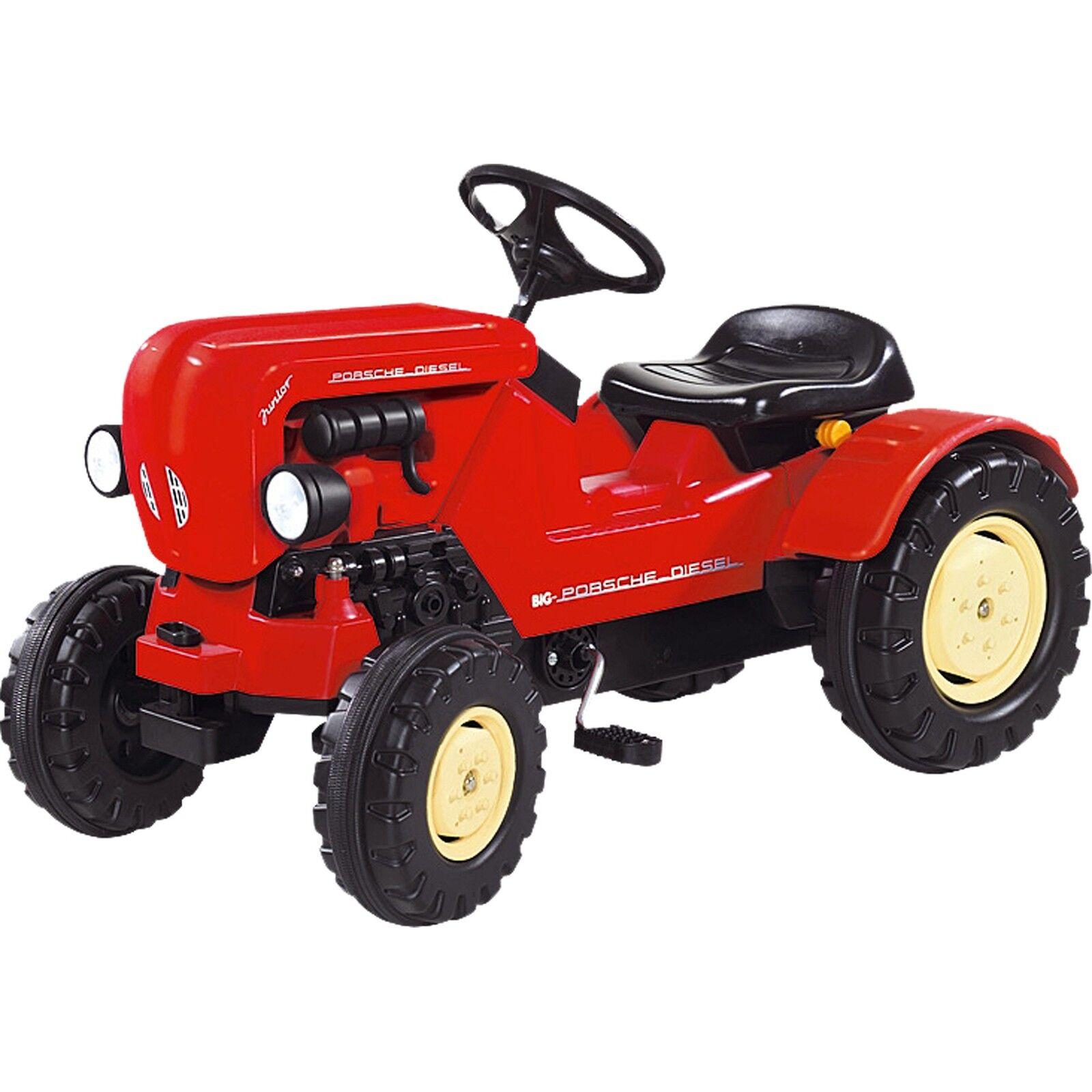 BIG Traktor Porsche Diesel Junior, Kinderfahrzeug, rot