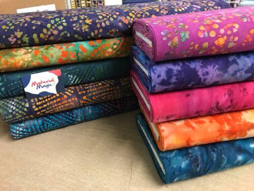 "approx super soft craft fabric 100/% cotton fabric BATIK DESIGN 114cm//45/"" wide"