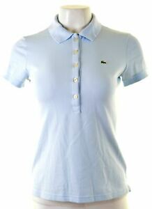LACOSTE-Womens-Polo-Shirt-Size-38-Small-Blue-Cotton-KB06