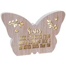 Sister Gift - Floral Butterfly Light Up LED plaque with sentiment 272042