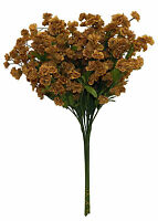 12 Baby's Breath Brown Gypsophila Silk Wedding Flowers Centerpieces Babies