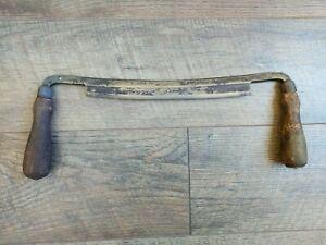 Vintage-DL-Mark-Draw-Shave-Knife-10-Blade-Diamond-Edge-Woodworking-Tool-Plane