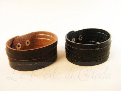 Bracciale FREYER Polsino Unisex Uomo Donna Men's Faux Leather Surf Bracelet