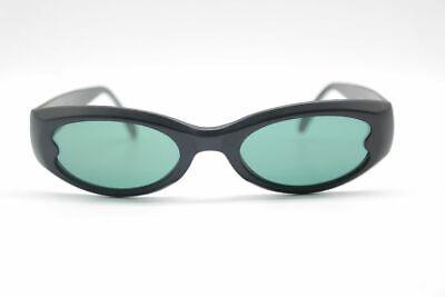 100% Wahr Look 1881 45[]19 Schwarz Oval Sonnenbrille Sunglasses Neu