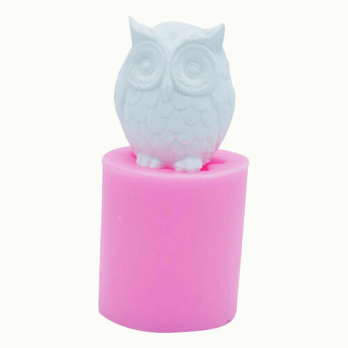 3D Silicone Owl Bird DIY Candle Molds Soap Mold Craft Wax Resin Mould Art NEW