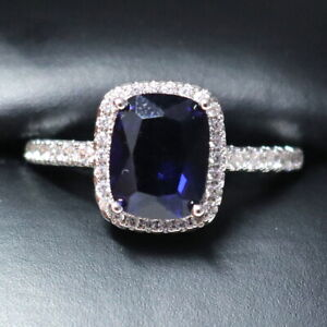 Sparkling-Princess-Blue-Sapphire-Ring-Women-Engagement-Jewelry-14K-Gold-Plated