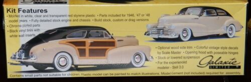 Galaxie Limited 13012 1947 Chevrolet Fleetmaster Aerosedan 3 in 1 model kit 1//25