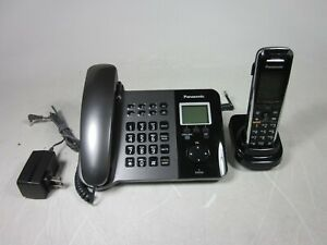 Panasonic-KX-TGP550T04-SIP-DECT-Telephone-and-KX-TPA50-Cordless-Phone-AS-IS