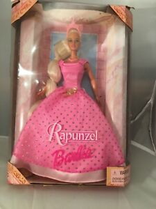 1999-Barbie-as-Rapunzel-A-Princess-in-a-Pink-amp-Gold-Gown-with-Pink-Crown