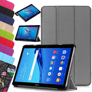 For-Huawei-MediaPad-T5-10-1-034-Leather-Protective-Slim-Smart-Stand-Case-Cover-UK