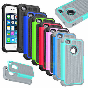 Armor-Impact-Defender-Shockproof-PC-Hard-Case-Cover-For-iPhone-4-4S-4G
