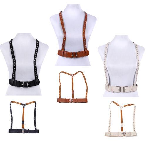 Unisex Suspenders Body Chest Harness Waist Belt Clubwear PU Leather Cosplay