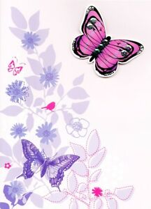 Thank you Birthday Card by Papura Photography Country Butterfly Greeting