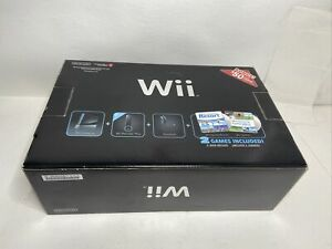 Nintendo Wii Sports Resort Black Console Bundle Game Cube Compatible with Box