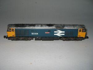 N Gauge Graham Farish Class 50 50004 'St Vincent' Large Logo Detailed/weathered