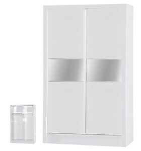 Alpha-Gloss-2-Door-Sliding-Wardrobe-Mirrored-Bedroom-Furniture-Units