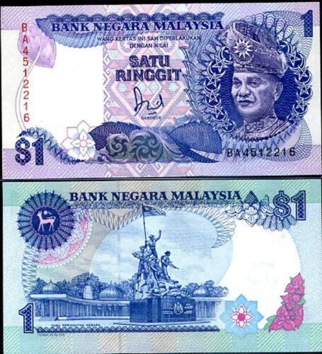 "MALAYSIA 1 RINGGIT P 27 /""BA/"" PREFIX REPLACEMENT UNC"