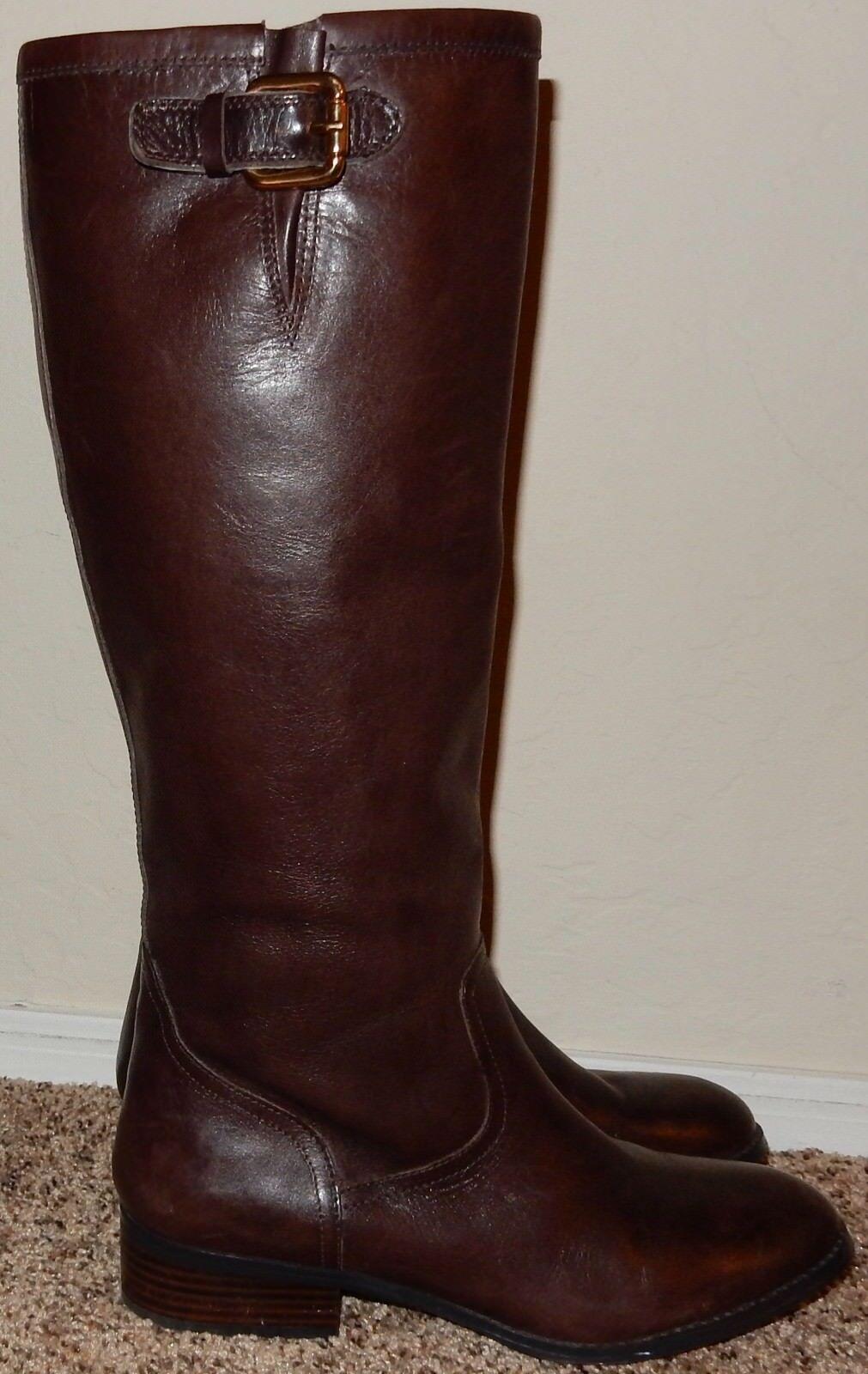 Ralph Lauren Brown Leather Boots Sz 9.5