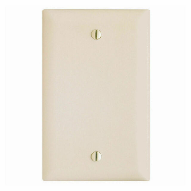 Blank Single Gang 1 Wall Face Plate Outlet Switch Cover Off White Almond