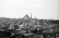 TURQUIE c. 1960 -Panorama Mosquée Süleymaniye Istanbul- Négatif 8,5 x 6 - Tur 67