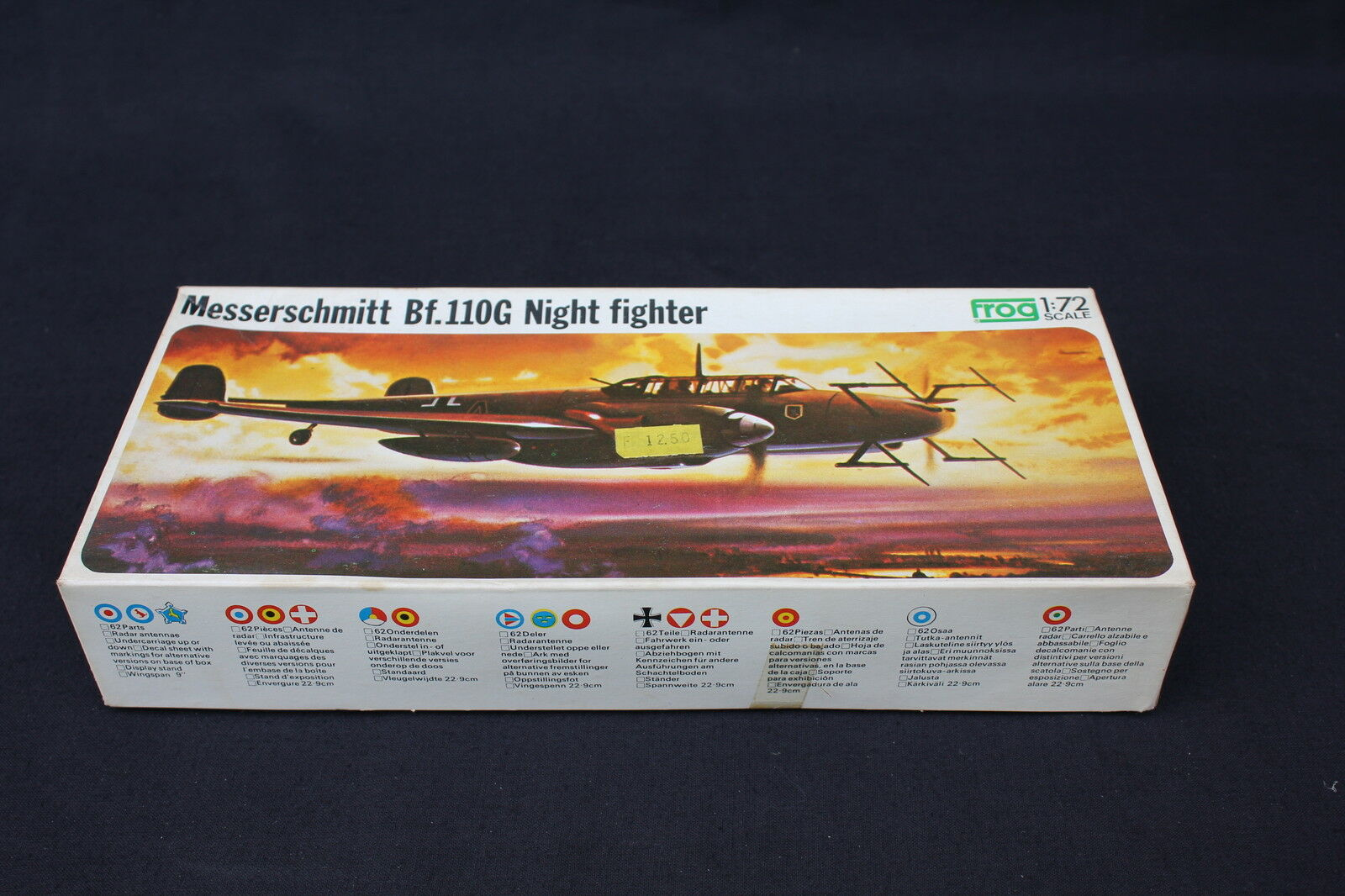 U735 FROG 1/72 avion MESSERSCHMITT MESSERSCHMITT MESSERSCHMITT Bf.110G F202 Night Fighter 1972 938aaf
