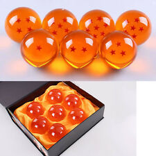 7pcs//set with Gold Dragon Stand Anime Dragon Ball Z Stereo 4.2mm  Stars Crystal