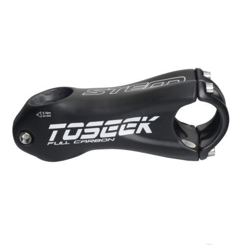 Carbon Fiber MTB Road Bike Bicycle Handlebar Stand Stems 80//90//100//110mm ±10°