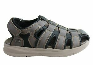 NEW-SKECHERS-MENS-RELONE-HENTON-RELAXED-FIT-MEMORY-FOAM-COMFORT-SANDALS