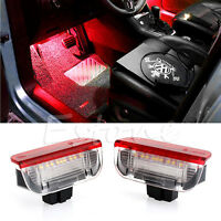 Premium LED Side Door Courtesy Lights White Red For VW Golf GTi EOS Jetta Passat