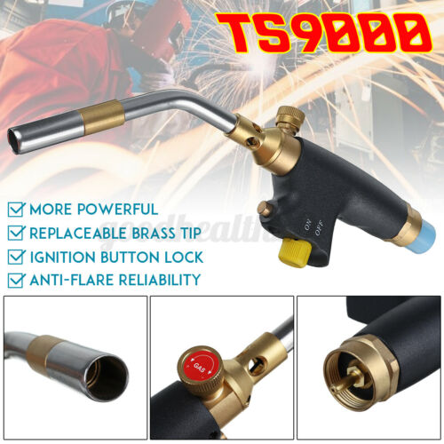 TS9000 Fits For Bernzomatic Style Blow Torch Kit Brazing Soldering MAPP Gas  ➲