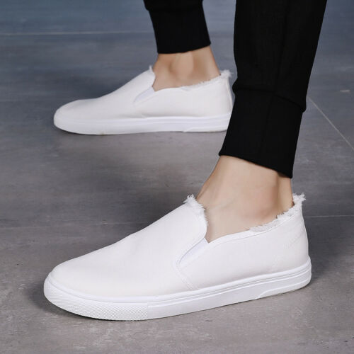 Homme COLLEGE Flats Causal loafters Toile À Enfiler Causal Conduite Chaussures Confort