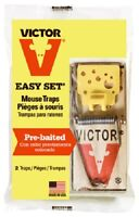Woodstream Victor, 2 Pack, Easy Set Mouse Trap, Requires No Baitin (M035)