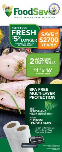 FoodSaver 11/' X 16/' Vacuum Seal Roll 2 Pack