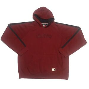 Red Tommy Hilfiger Spellout Sweatshirt Large