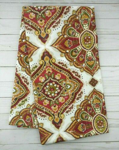Fabric Tablecloth Fall Medallions 52x70 Microfiber