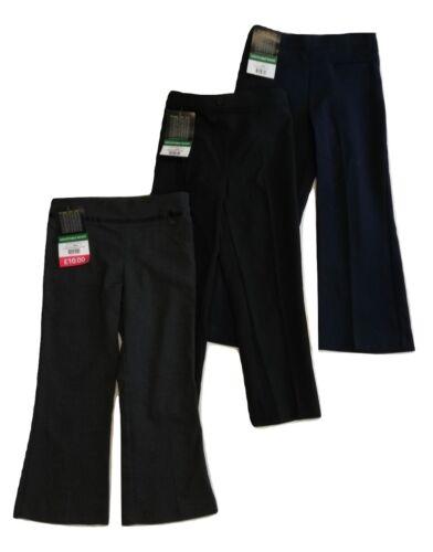 NUOVO Ragazze Scuola Pantaloni BHS Nero Grigio Blu Navy 4 5 6 7 8 9 10 11 anni