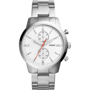FOSSIL-Uhr-Herrenuhr-FS5346-Edelstahl-silber-NEu-OVP