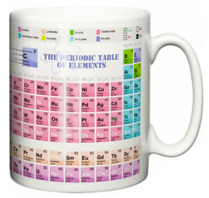 """Science Study Mug """"The Periodic Table of Elements"""" Teacher Student Learning Gift"""
