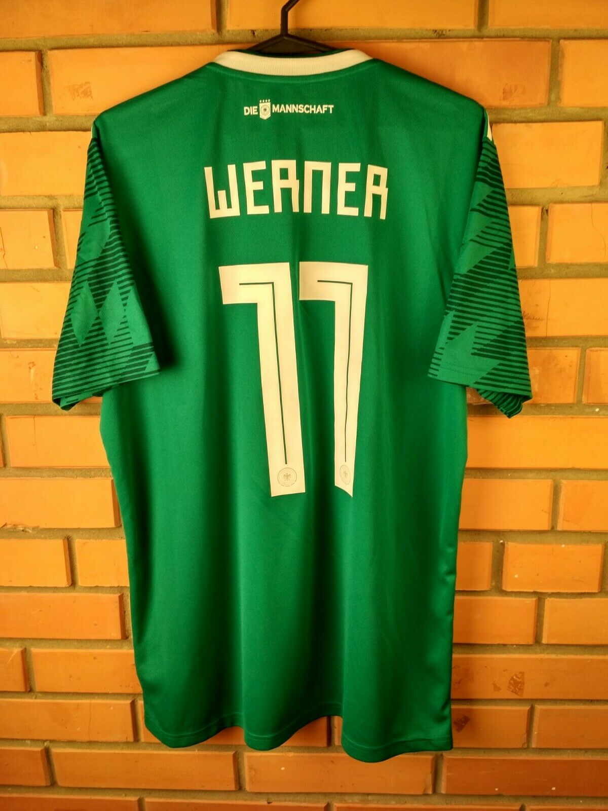 5871e347891 Werner Germany soccer jersey large 2018 away shirt BR3144 football Adidas