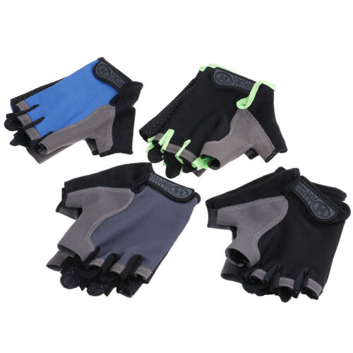 Women Men Sport Cycling Fitness GYM Workout Exercise Half Fingers Gloves Bike YR