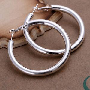 Free-shipping-wholesale-sterling-solid-silver-hollow-hoop-Earrings-XLSE149