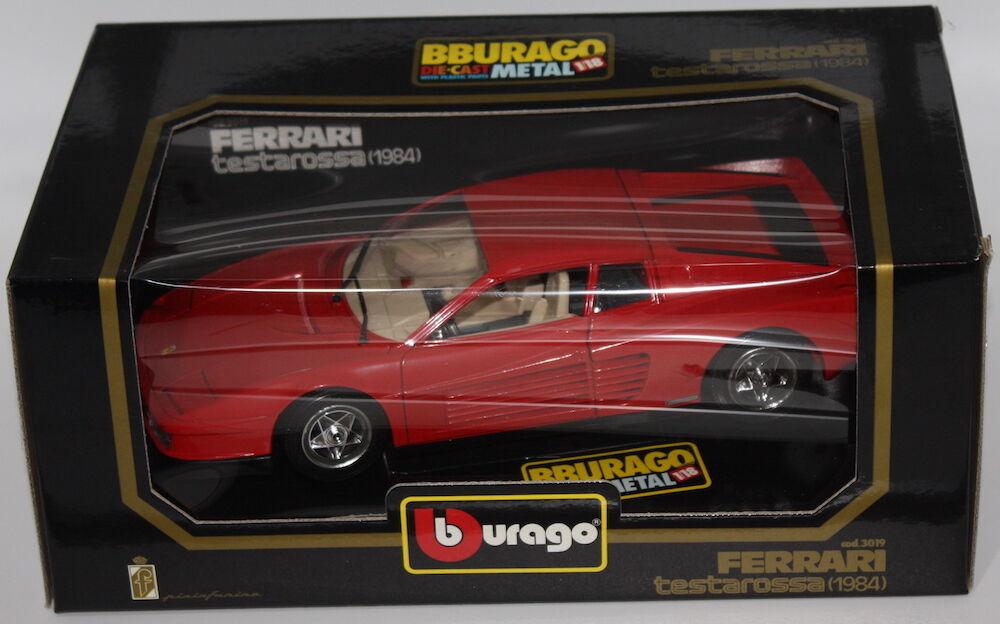 Quand tu fête la nouvelle année, je suis heureux. Bburago Scala 1/18 1:18 3019 Ferrari Testarossa 1984 | En Vente  | Outlet  | Authentique