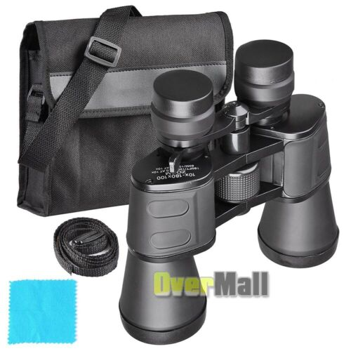 Day+Night 100X180 HUGE Power Zoom Military Grade Hunting Binoculars w//Pouch 2020