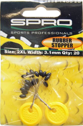 20 Gummistopper Stopper Spro Pike Fighter Rubber Stopper Gummiperlen