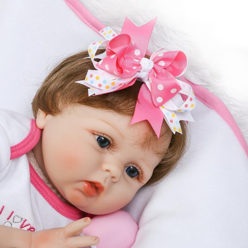 Bambino Reale realistici BEBE RINATO aspetto realistico bambino GIRL  BAMBOLA 22'  55cm Regalo  caldo