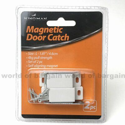 2 ct Magnetic DOOR CATCH Kitchen Cabinet Closure Catches ...