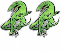 2ct Dinosaur 30 Foil Air Filled Balloons Helium Free - Sticks And Joiner