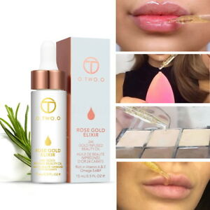 Details about O TWO O 24k Rose Gold Elixir Skin Make Up Essential Oil For  Lip Before Primer