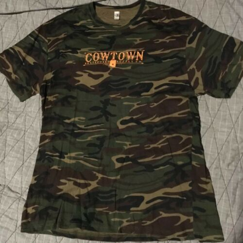 Cowtown Skateboards Camo Shirt XL Spitfire Anti H… - image 1